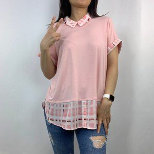 Elle Layer Short Sleeve Blouse